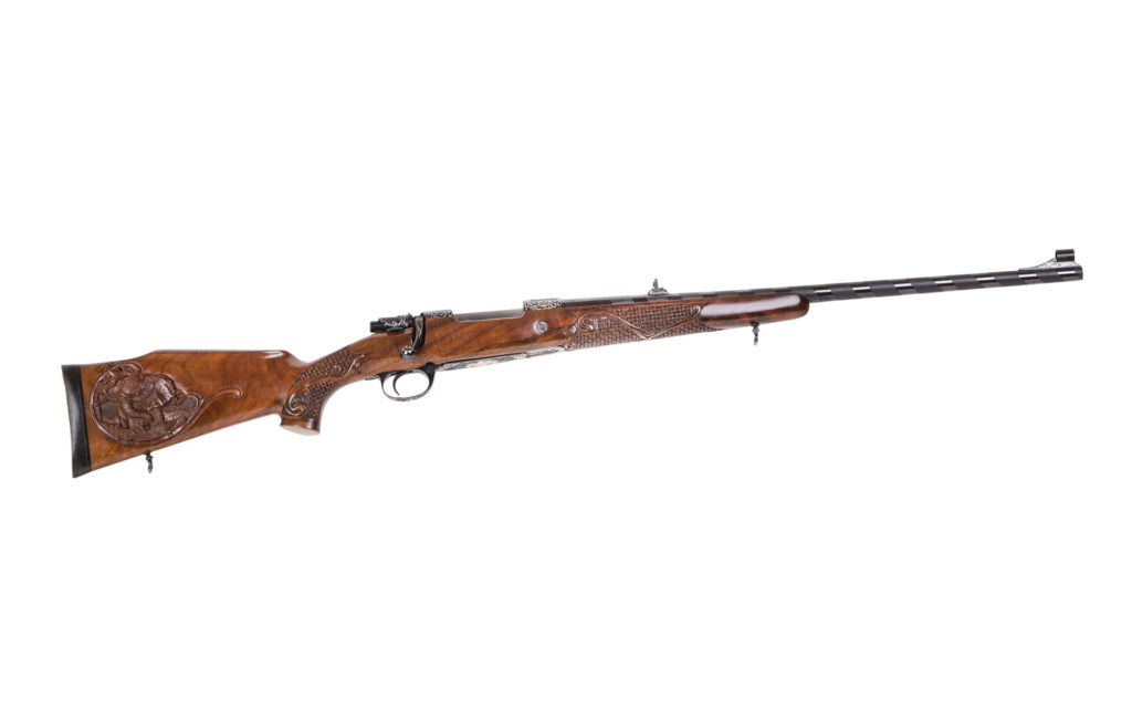 engraved bolt action rifle Mauser m 70 exclusive