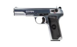M70 AA 9mm Pistol chrome left angle