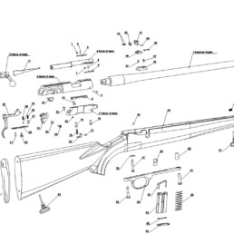 Parts bolt action chart exploded view mp22