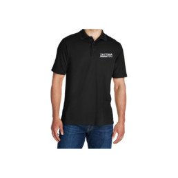 zastava black short sleeve 3 button polo front
