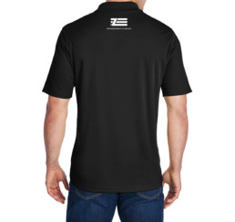 zastava black short sleeve 3 button polo back