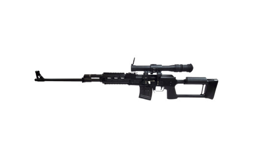 m 91 ak sniper rifle scope blued left angle