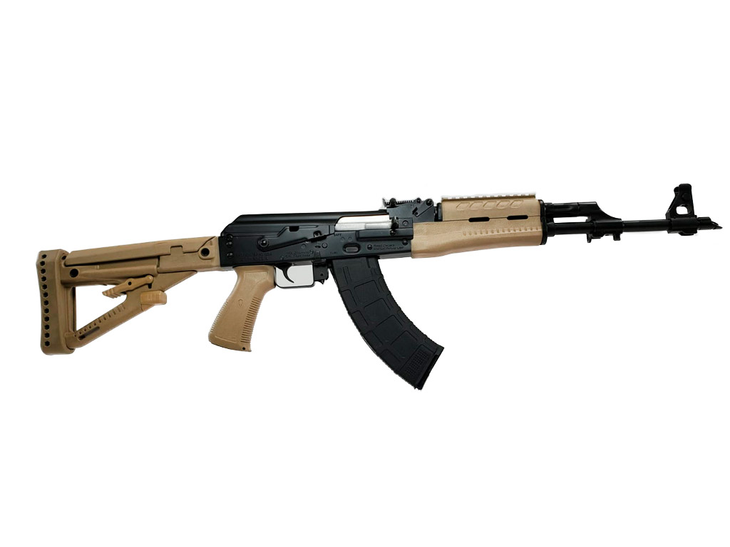 m70 firearm pistol ak FDE polymer right angle