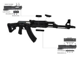 polymer zpap m70 ak rifle rails hand guard