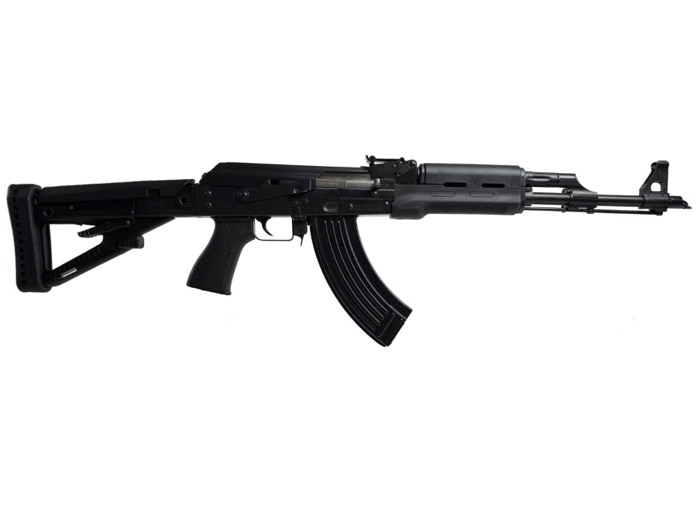 black ak rifle zpap zastava m70 7.62x39mm polymer main angle