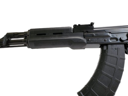 black ak rifle zpap zastava m70 7.62x39mm polymer furniture alt 2 angle