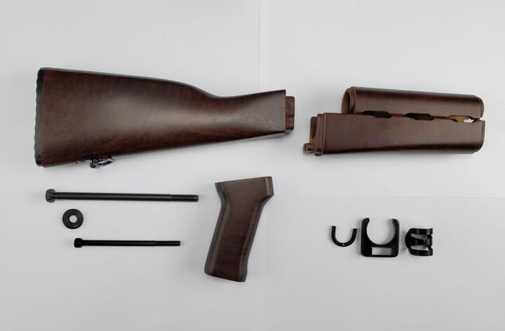 dark maple wooden furniture set butt stock upper lower hand guard grip