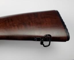 dark maple wooden furniture butt stock bottom angle sling swivel