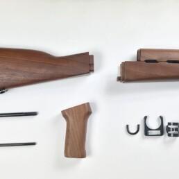 walnut wooden hand guard set accessories butt stock upper lower handguard grip