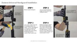 Handguard universal installation zastava step1