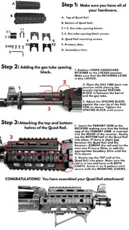 installation quad rail zpap pistol 1913 rail